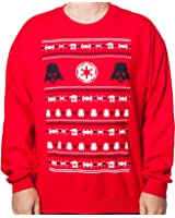 Mighty Fine Men's Darth Vader Empire Star Wars Faux Ugly Christmas Sweater