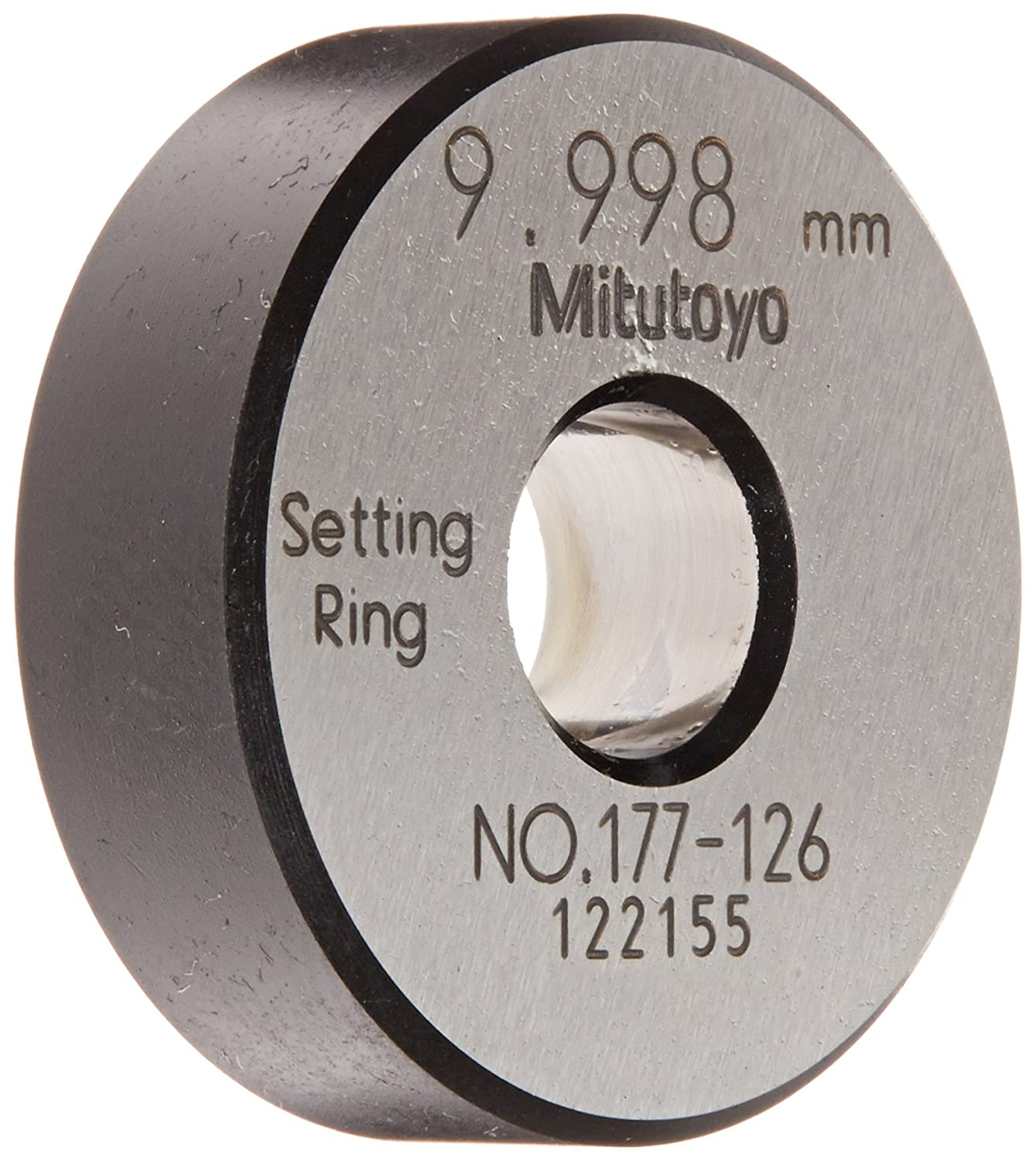 Mitutoyo 177-126 Setting Ring, 10mm Size, 10mm Width, 32mm Outside Diameter, +/-1.5Micrometer Accuracy 09145376