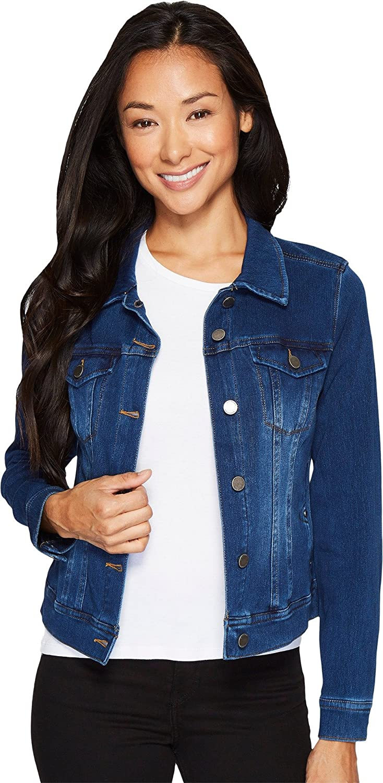 08a1f8c339698 Liverpool Womens Petite Classic Denim Jacket In Powerflex Knit Denim at  Amazon Women s Coats Shop