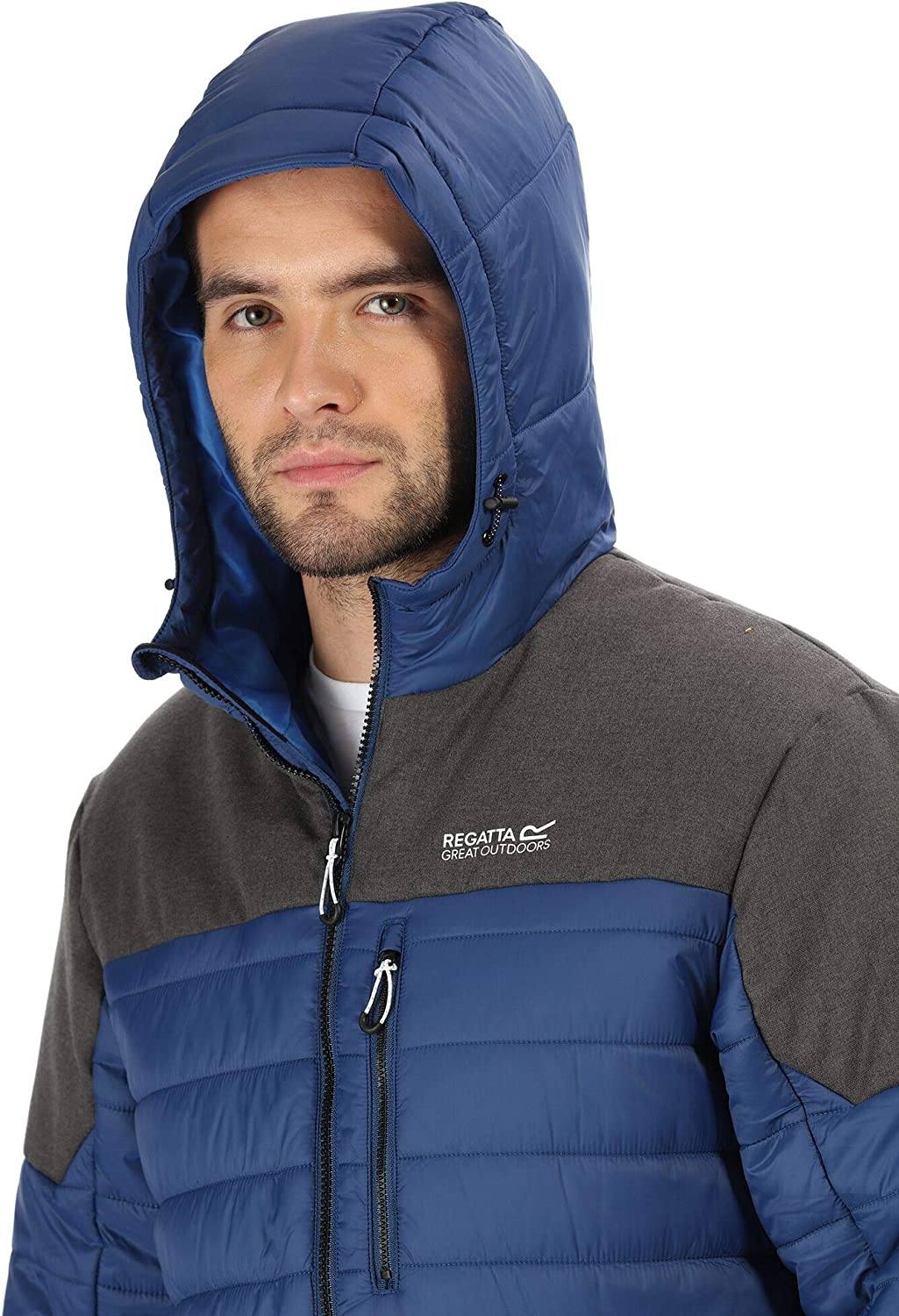 Regatta Orton Lightweight Water Repellent Wool Effect Down-Touch Insulated Hooded Jacket Chaquetas Acolchadas Hombre