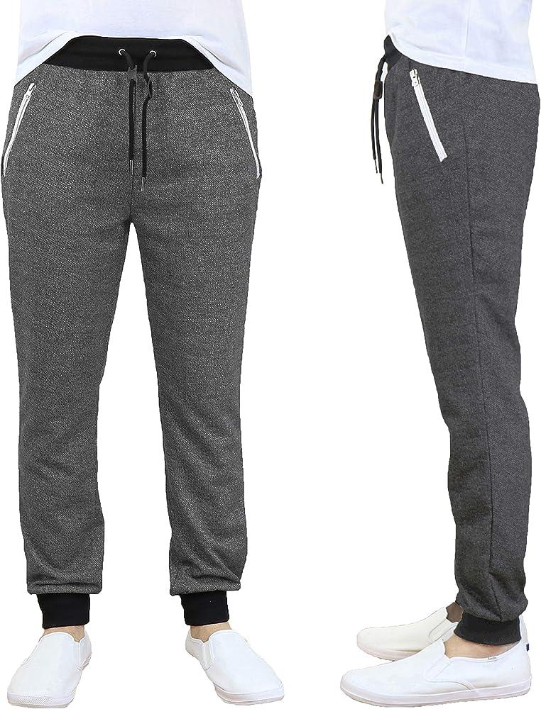mens galaxy by harvic sweatpants jogger pants Slim gray red black