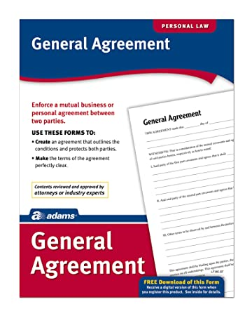 Amazon Adams General Agreement Forms And Instructions Lf195