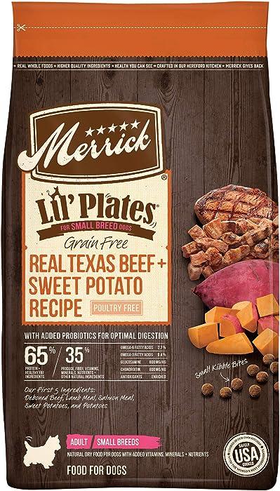 Merrick Lil' Plates Grain Free Small Breed Dry Dog Food Real Texas Beef + Sweet Potato Recipe - 20.0 lb Bag