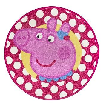 Wondrous Peppa Pig Tweet Childrens Girls Round Bedroom Floor Rug Mat Interior Design Ideas Tzicisoteloinfo