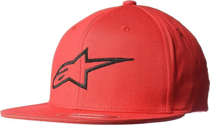 ALPINESTARS Ageless Flat bill FLEXFIT HAT White//Blue Red Logo Large//X Large