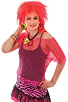 Neon Pink Mesh Fishnet Top