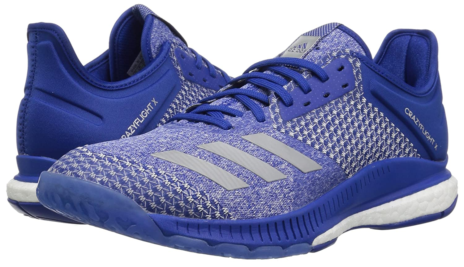 adidas Women's B(M) Crazyflight X 2 Volleyball Shoe B077X7XQHG 7.5 B(M) Women's US|Collegiate Royal/Silver Metallic/White c05201