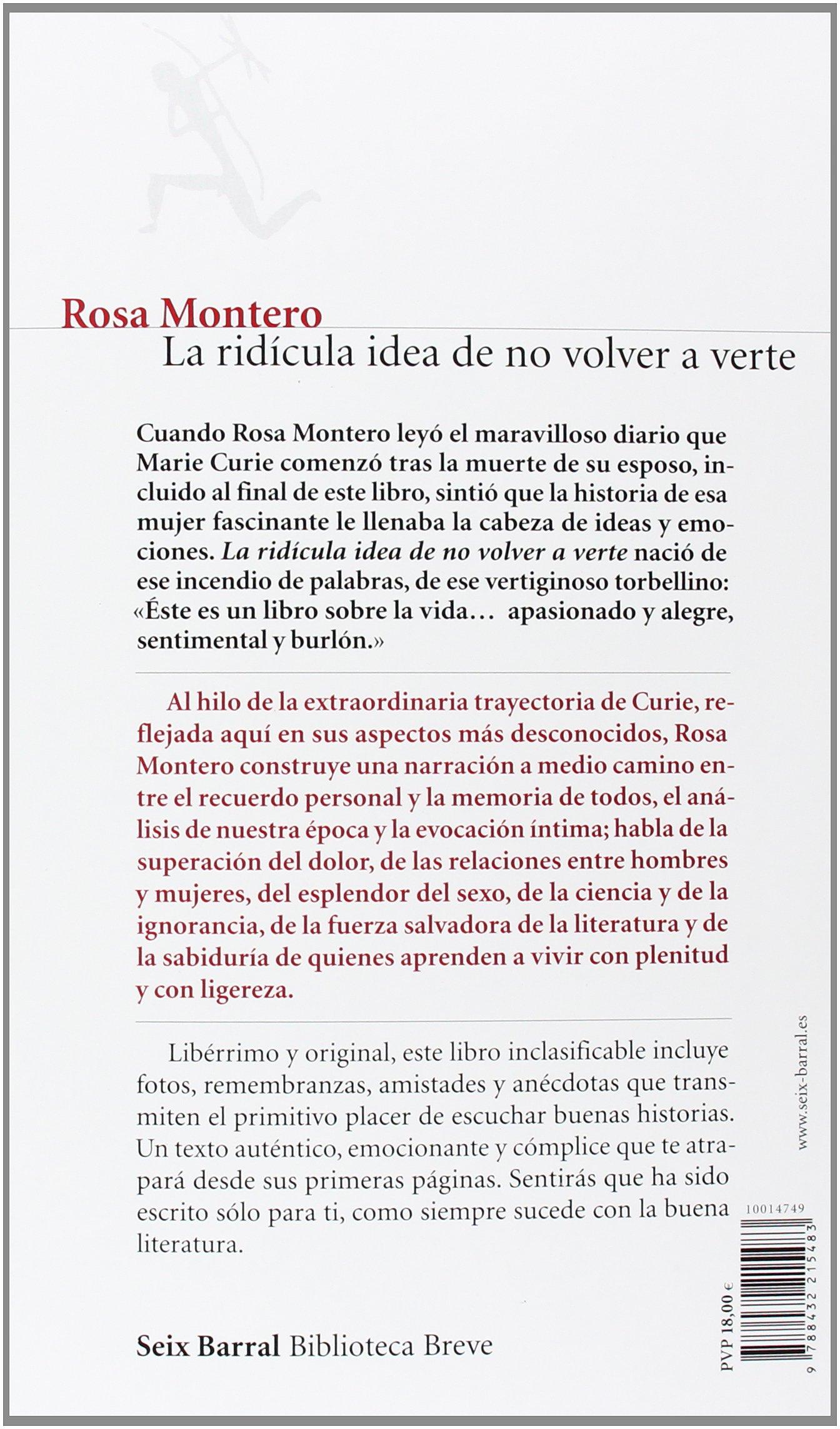La ridícula idea de no volver a verte: 2 Biblioteca Breve: Amazon.es: Montero, Rosa: Libros
