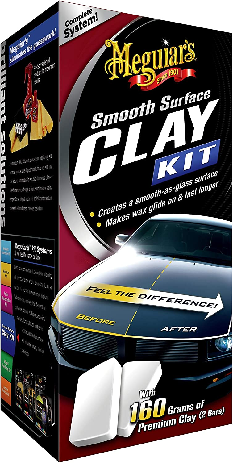 B00063X7KG MEGUIAR'S Smooth Surface Clay Kit – Safe and Easy Car Claying for Smooth as Glass Finish – G1016 81Qc6GMOvQL