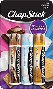 Chapstick S'Mores Collection Flavor Skin Protectant Flavored Lip Balm Tube, 3 Count (Pack of 1)