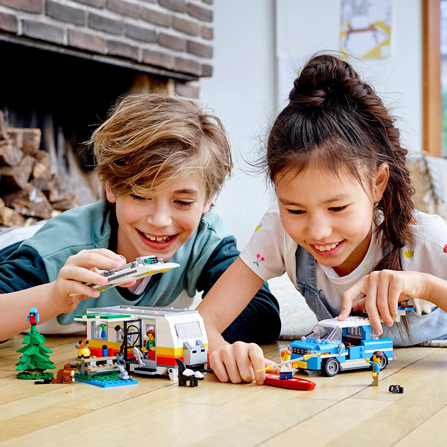 766 Pieces New 2020 LEGO Creator 3in1 Caravan Family Holiday 31108 Vacation Toy Building Kit for Kids Who Love Creative Play and Camping Adventure Playsets with Cute Animal Figures