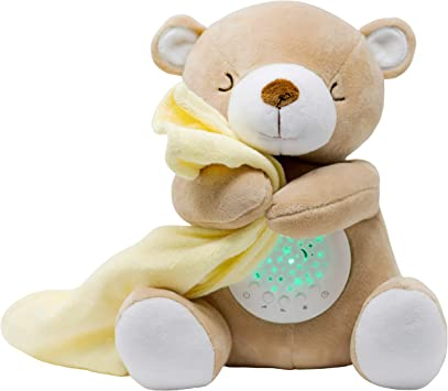 TickleDrops Teddy Schlaf Soother- Sound Machine Stern-Projektor- der authentischen Tickle Drops Pl/üsch Teddy Geschenk f/ür Babys gestopft Kleinkinder mit Schlafliedern Nachtlicht