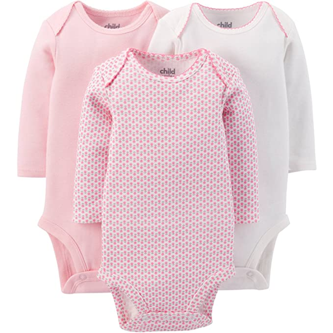 feed93d93 Child Of Mine Made By Carters Baby Girls Long Sleeve Bodysuits (6-12 Months