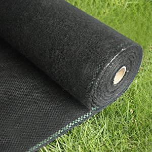Ogrmar 3FTx100FT Weed Barrier Fabric 5oz Premium Garden Landscape Fabric Heavy Duty & Easy Setup Ground Cover for Yard,Garden,Flower Bed,Outdoor Project