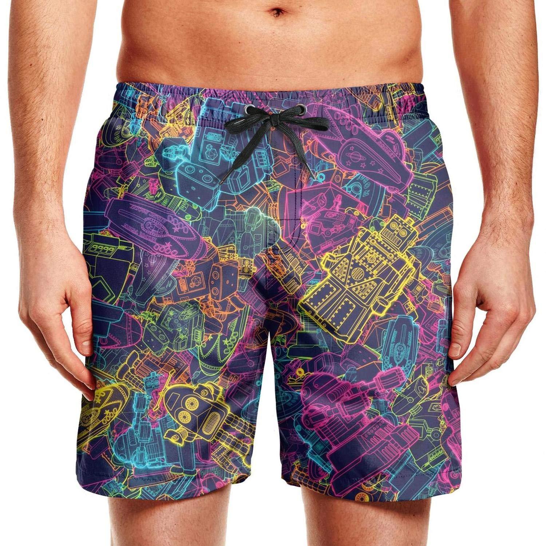 ZJING Mens Mandala colorida Printed Popular Beach Swim Trunk Summer Holiday