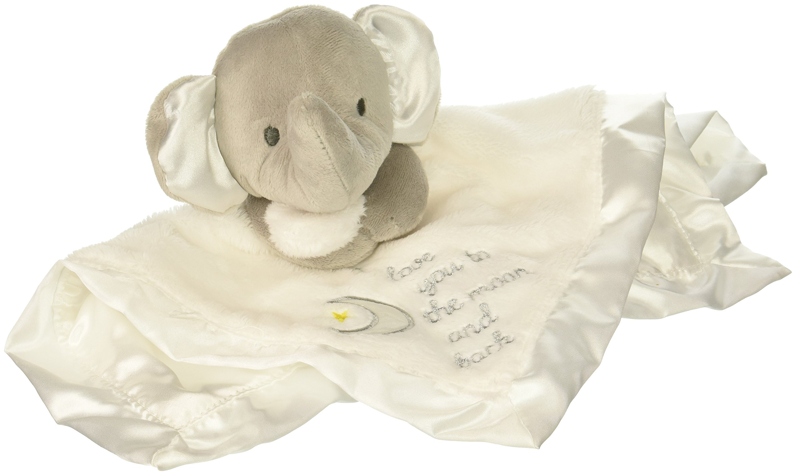 Baby Starters I Love You to The Moon and Back Security Blanket, White/Grey