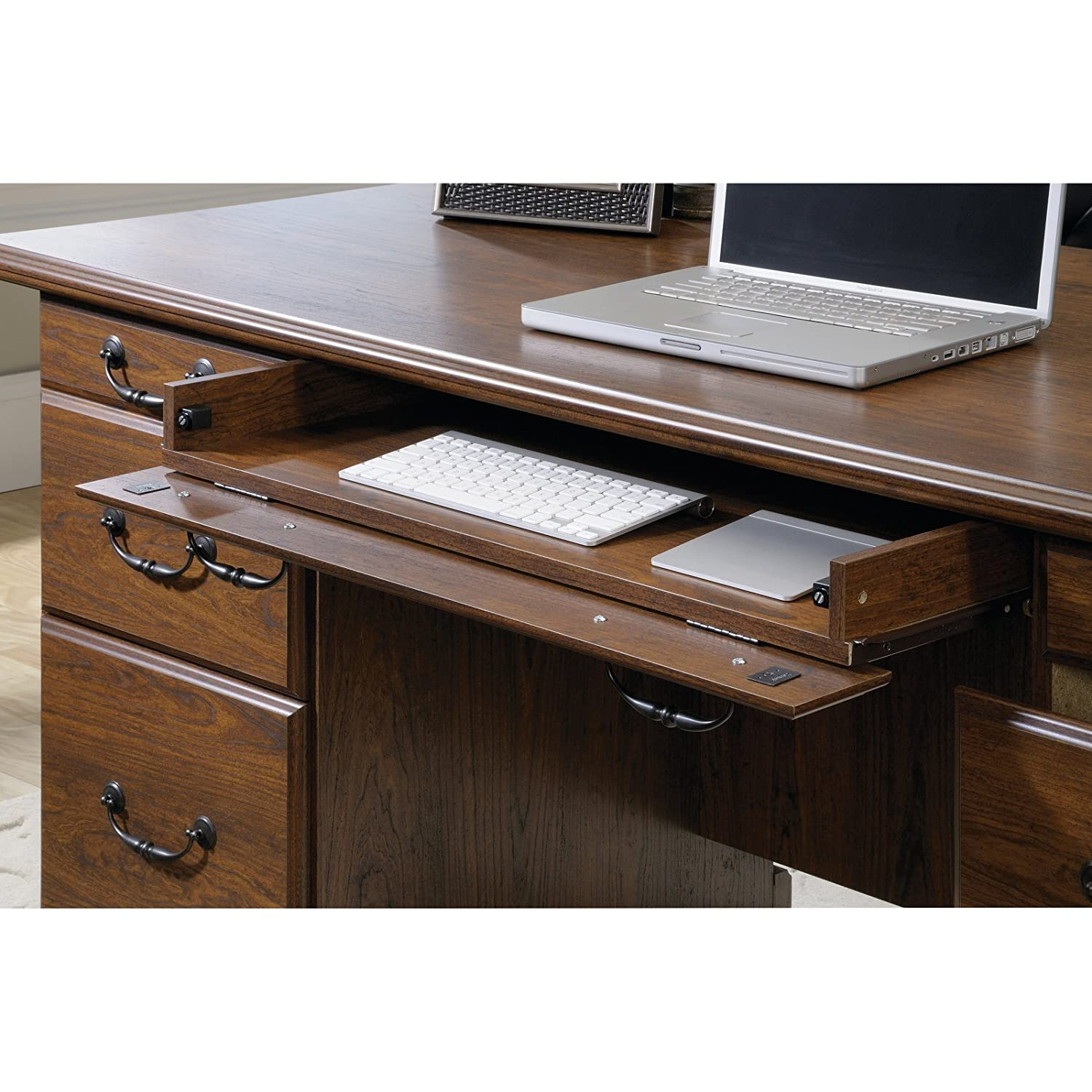 sauder heritage hill large executive desk hutch by amazon com sauder orchard hills executive desk in