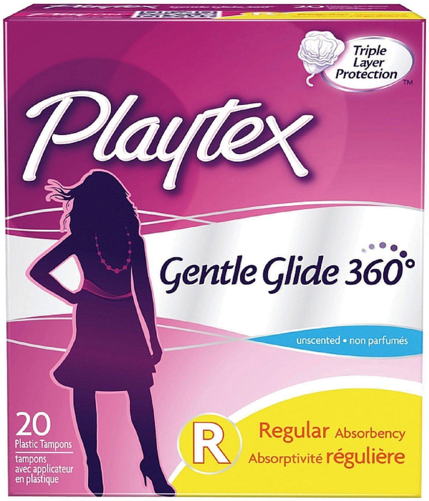 Playtex Gentle Glide 360 Unscented Regular Absorbency Tampons 20 ea (Pack of 11)