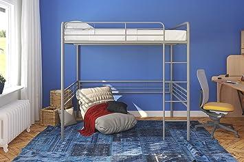 Amazon Com Dhp 4227129set Metal Loft Bed With Signature Sleep