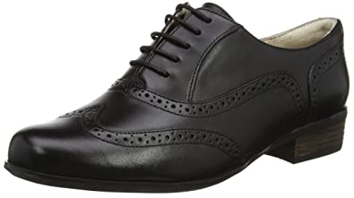 Clarks Womens Hamble Oak Black Leather Oxford 7 B (M) 7mLSJO