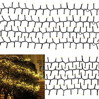 Weihnachtsbeleuchtung Für Aussen Led.Lichterkette Warmweiß 16m Für Außen Und Innen Led Weihnachtsbeleuchtung Strom Betrieben Weihnachtsdeko Tannenbaum 800 Led