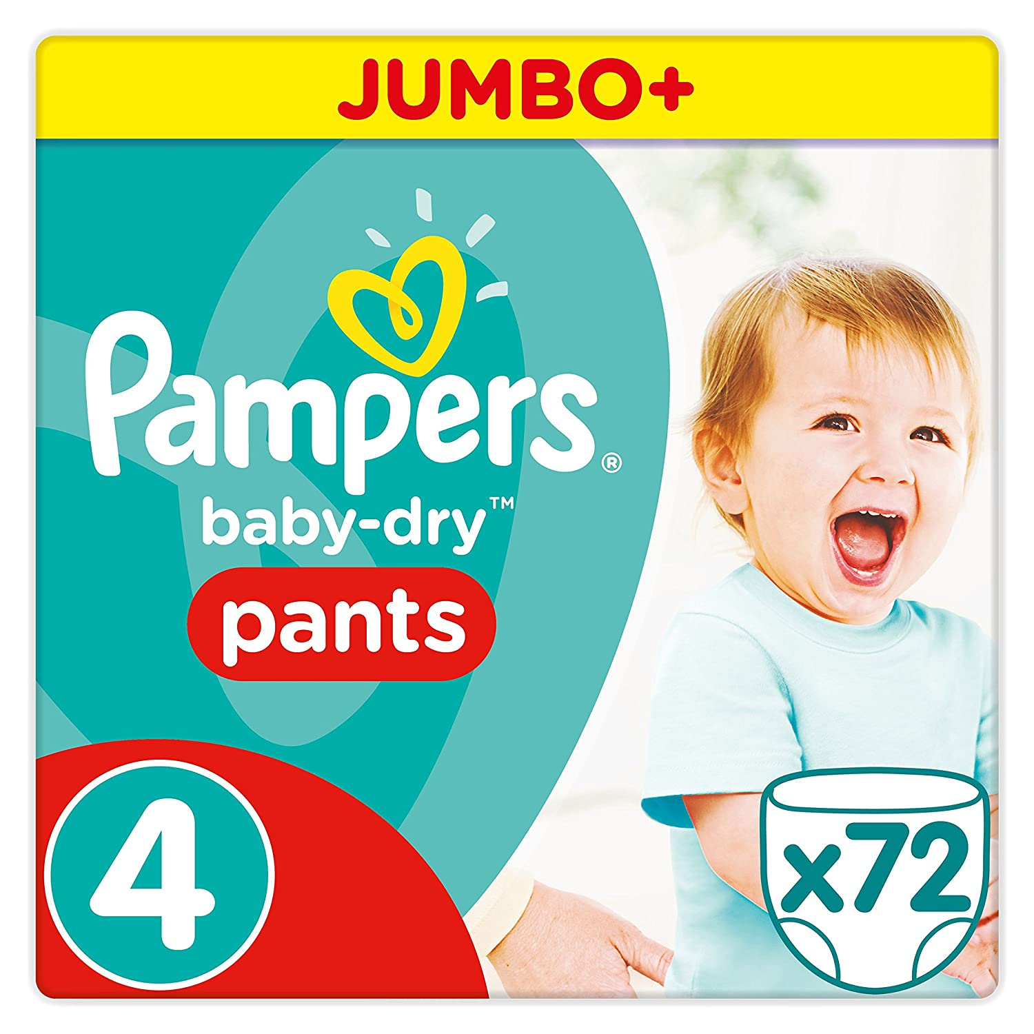 Pampers - Baby Dry Pants - Couches Taille 5 (12-18 kg/Junior) - Jumbo+ Pack (x64 culottes) 4015400745365