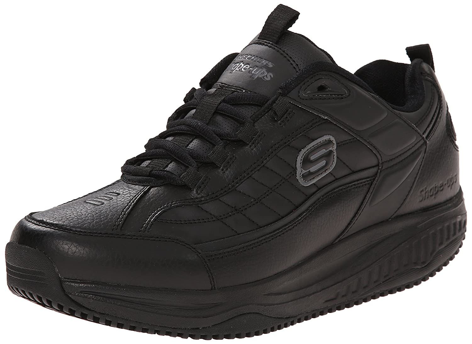 Skechers For Work Men S Shape Ups Exeter Work Shoe Black
