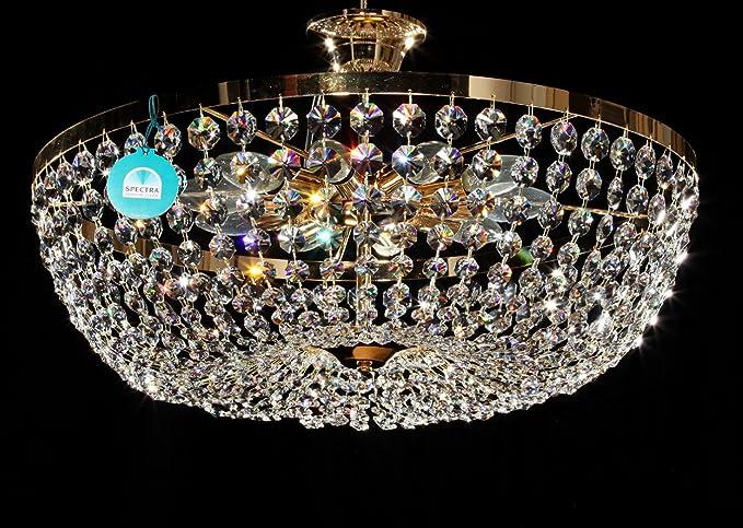 Ø60 cm Cristal Lámpara de techo Araña con cristales ...