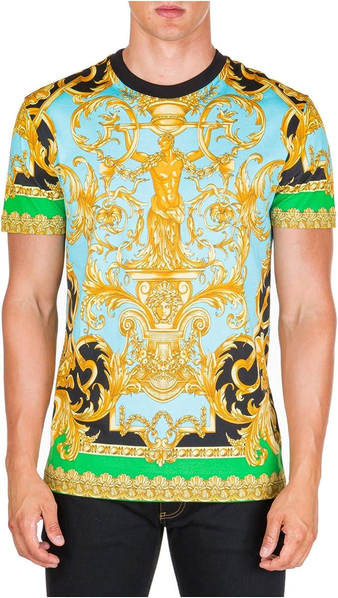 Versace Hombre Camiseta barocco Verde M: Amazon.es: Ropa y accesorios