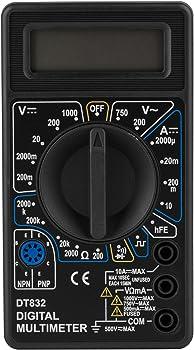 Parts Express 3-1/2 Digit 19 Range Digital Multimeter with Transistor Test