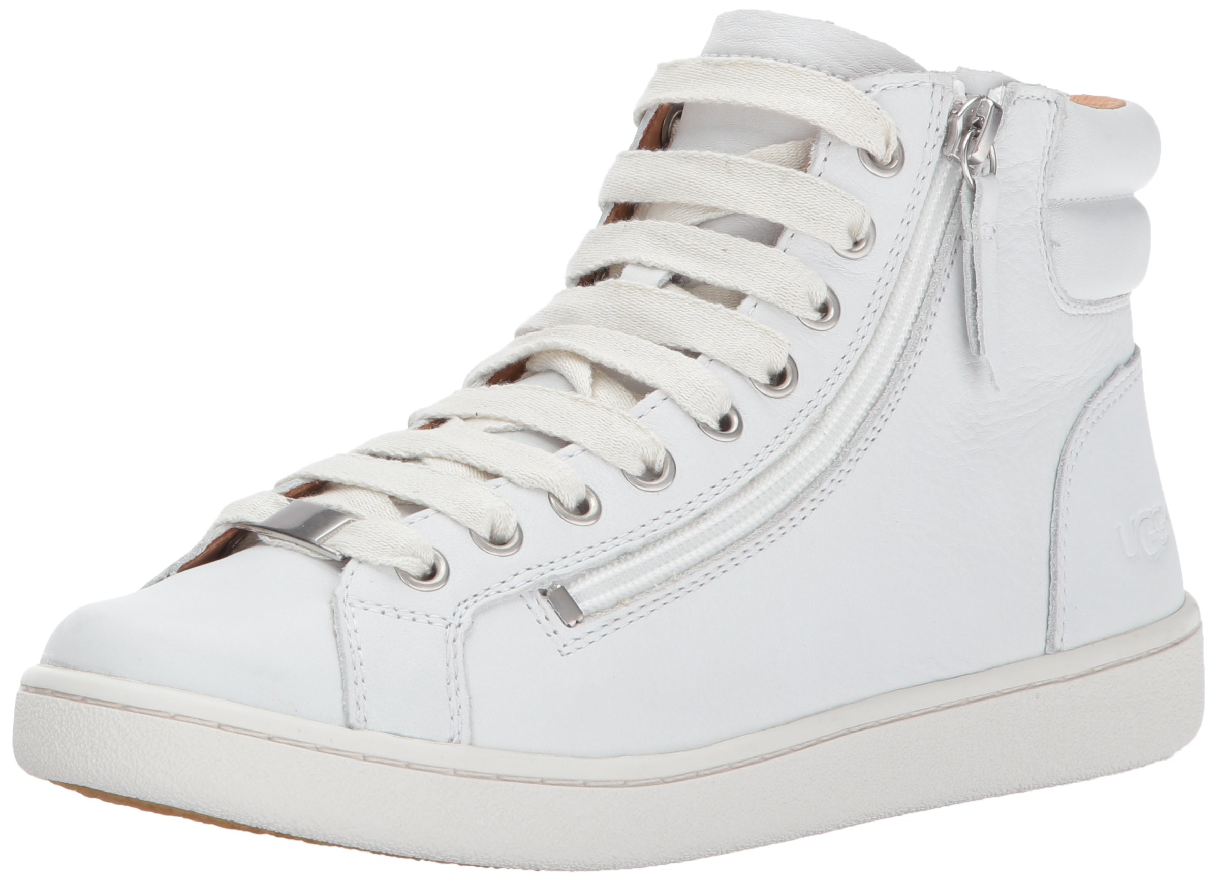 UGG Women's Olive Combat Boot, White, 8.5 M US