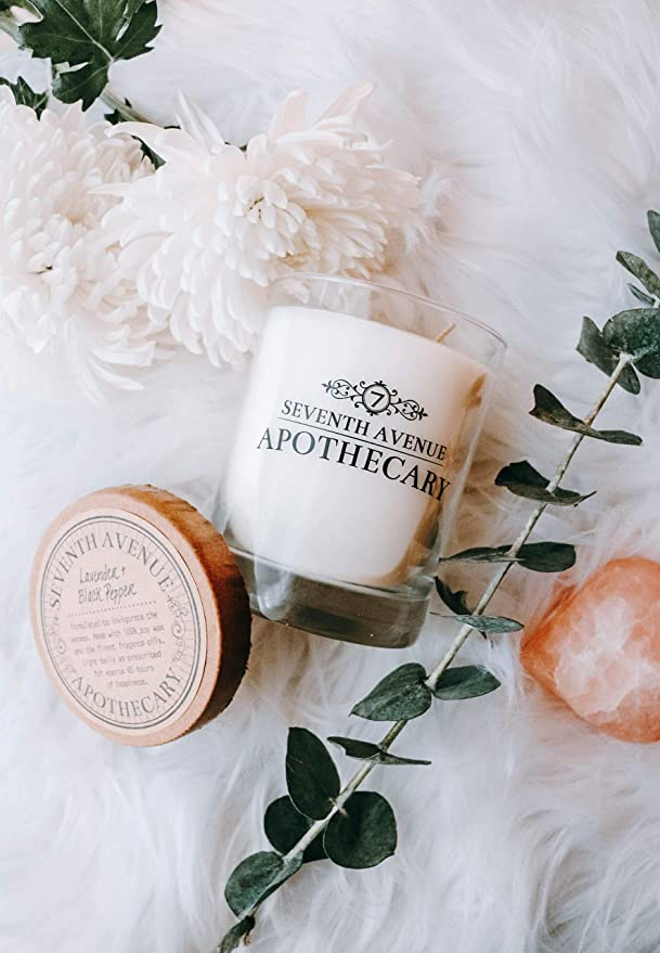 Seventh Avenue Apothecary Hand Poured Azalea And Black Walnut Artisan Soy Candle 1 Soy Candle Home Improvement Amazon Com