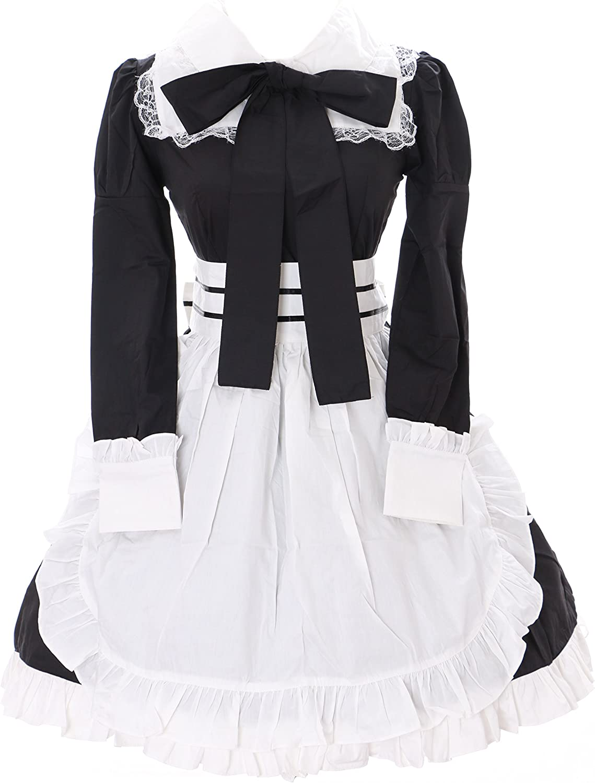 JL-637-1 Black Maid Maid Maid Gothic Lolita Dress Set Costume Cosplay