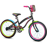 """Let Kids Ride in Sweet Style with Bright,Eye Catching LittleMissMatched 20"""" Girls' Bike,Multi-Color,with Rear Brakes,BMX…"""