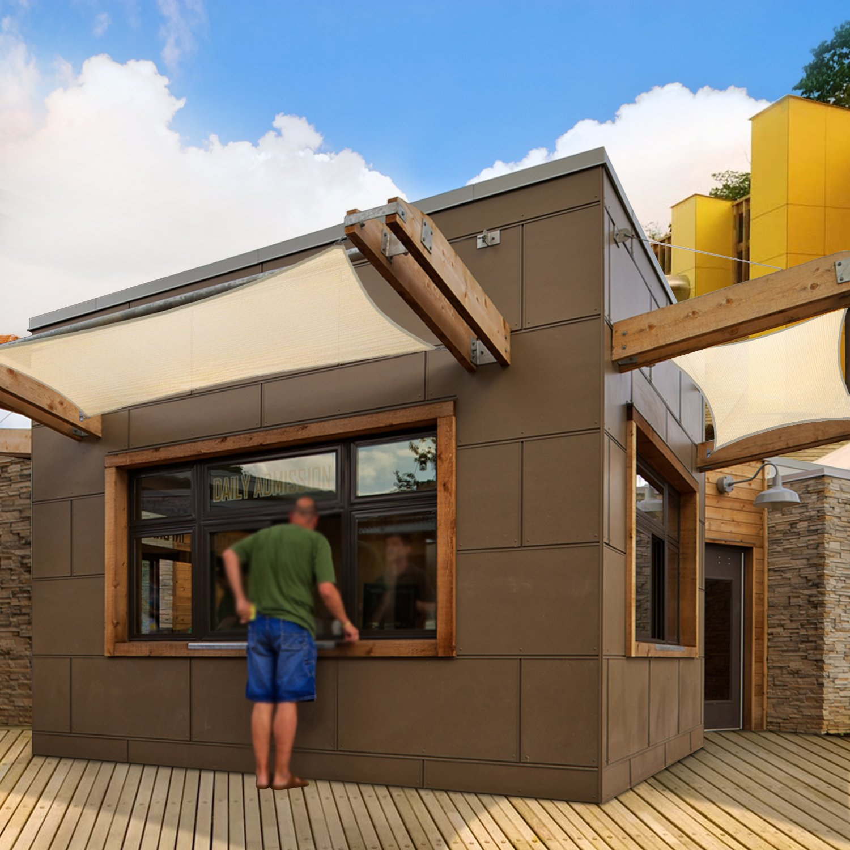 Coarbor 16 x20 Rectangle Light Grey UV Block Sun Shade Sail Canopy Perfect for Patio Outdoor Garden