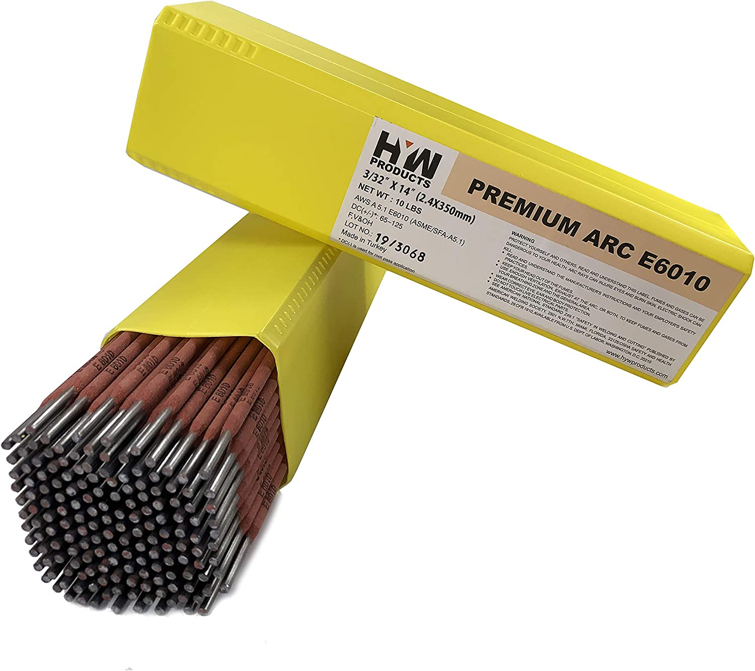 """Stick electrodes welding rod E6010 3//32/"""" 4 lb Free Shipping!"""