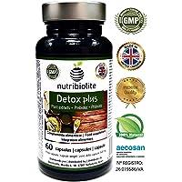 Detox Plus   Drenante Dimagrante Diuretico Depurativo del Fegato Antiossidante Migliora la Digestione. Integratore Simbiotico Naturale con Probiotici + Prebiotici + Estratti Vegetali Senza Glutine