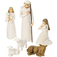 Deals on Willow Tree Hand-Painted Sculpted Figures Nativity 6-Piece
