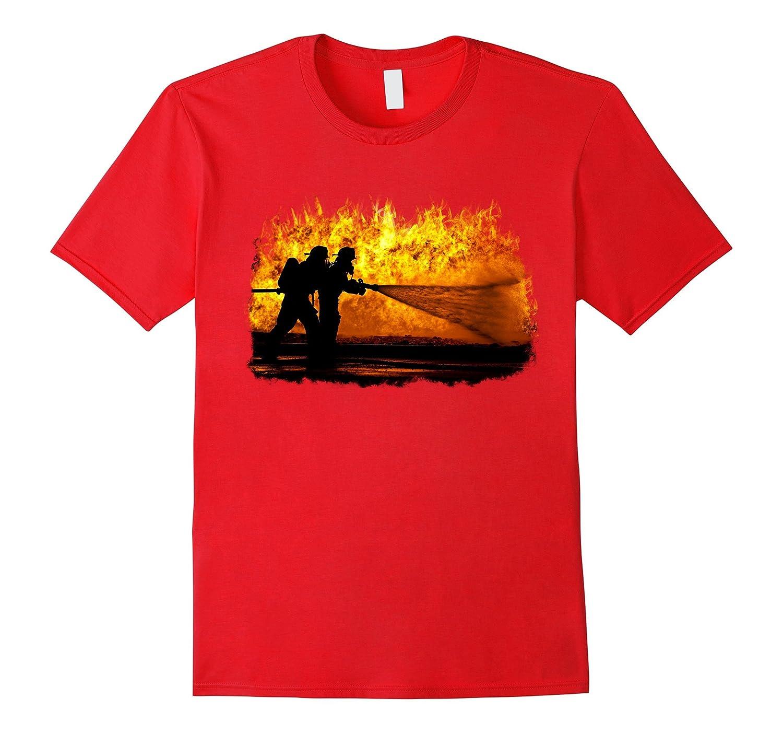 Firefighter Pride T-Shirt for Brave Fireman-Art