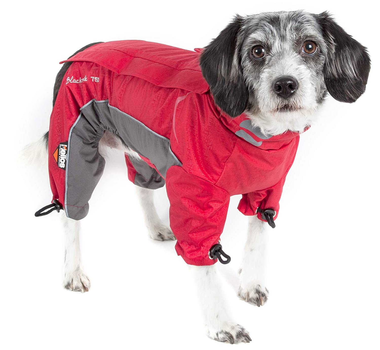 Cola Red X-SMALL Cola Red X-SMALL DOGHELIOS 'Blizzard' Full-Bodied Comfort-Fitted Adjustable and 3M Reflective Winter Insulated Pet Dog Coat Jacket w Blackshark Technology, X-Small, Cola Red
