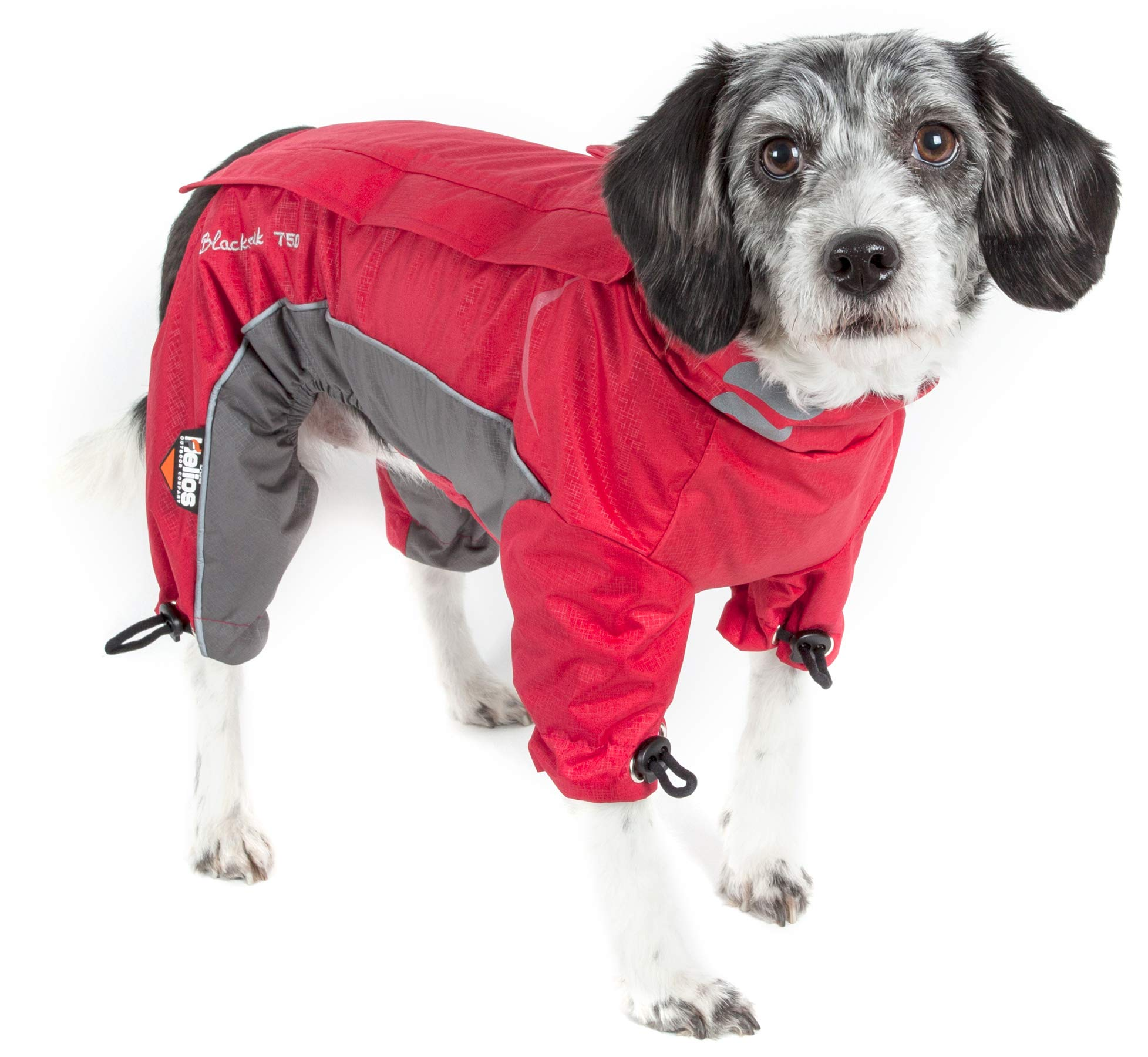 DogHelios Blizzard' Full-Bodied Comfort-Fitted Adjustable and 3M Reflective Winter Insulated Pet Dog Coat Jacket w/Blackshark Technology, Large, Cola Red