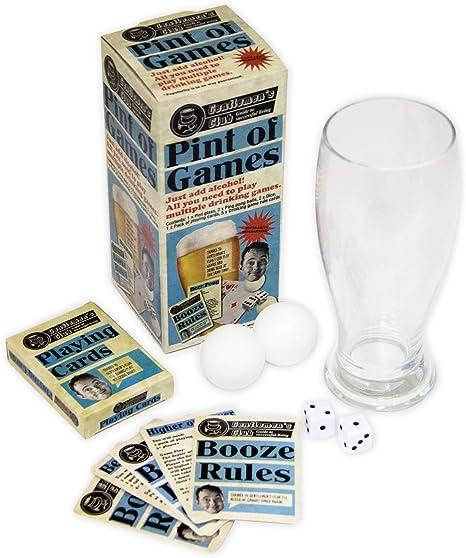 Paladone - Juegos de Mesa para Beber con Vaso de Pinta: Amazon.es: Hogar