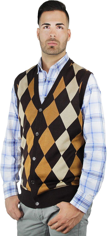 Blue Ocean Argyle Button Down Sweater Vest