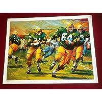"""Jim Taylor/Jerry Kramer,""""Autographed"""" (JSA) 20x25 (LTD ED) Litho (Scarce) - Autographed NFL Art photo"""