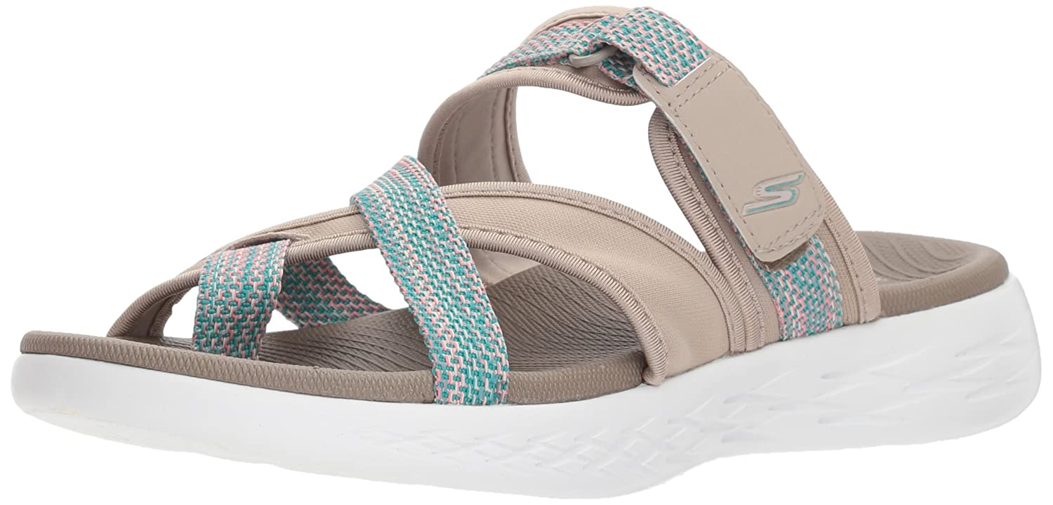 Skechers Women's on-The-Go 600-Glow Sport Sandal B072T4GW3R 6 B(M) US|Taupe