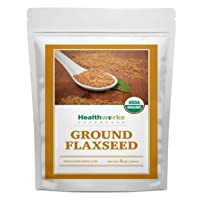 Healthworks Flax Seed Ground Powder Cold Milled Raw Organic (48 Ounces / 3 Pounds...