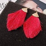 J Meng Fan Tassel Necklace Earrings Set for Women