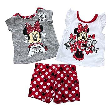 0bb685a5dd2fe Amazon.com: Disney Minnie Mouse 3 Pieces Clothing Set For Girls(12 ...