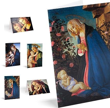 Felicitaciones de Navidad Pack de 10 tarjetas quattrocento: Amazon.es: Oficina y papelería