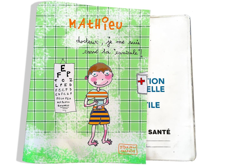 Protège carnet de santé bébé garçon Enfant Personnalisable Réf. A2410-2018